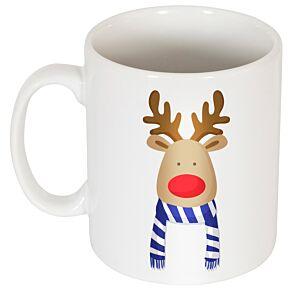 Reindeer Supporters Mug - Blue/White