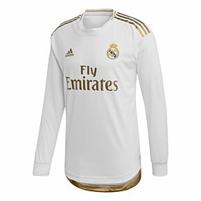 adidas Real Madrid Authentic Home L/S Jersey 2019-2020