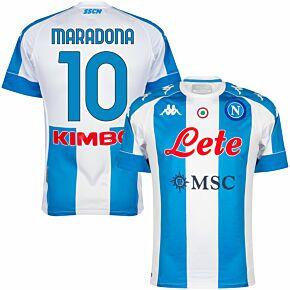 2021 Napoli 4th Pro Shirt + Maradona 10 (Fan Style Printing)