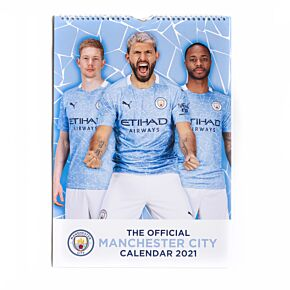 2021 Man City Official A4 Calendar