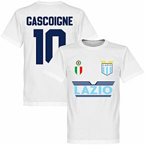 Lazio Gascoigne 10 Team T-shirt - White