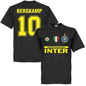 Inter Bergkamp 10 Team Tee - Black