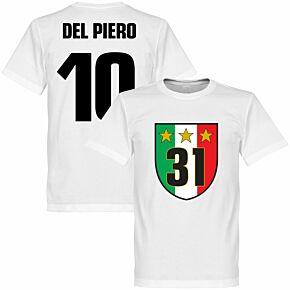 Juventus 31 Campione KIDS Del Piero 10 Tee - White