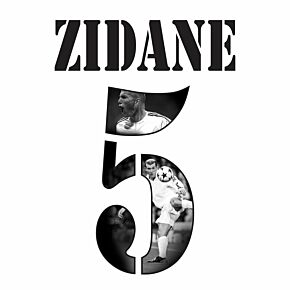Zidane 5 (Gallery Style) Real Madrid Home