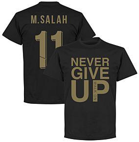 Liverpool Never Give Up M.Salah 11 Tee - Black/Gold