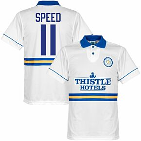 1994 Leeds United Home Retro Shirt + Speed 11 (Retro Flock Printing)