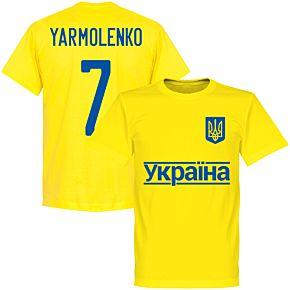 Ukraine Yarmolenko 7 2020 Team T-Shirt - Yellow