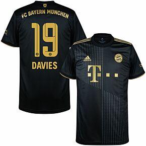 21-22 FC Bayern Munich Away Shirt + Davies 19 (Official Printing)