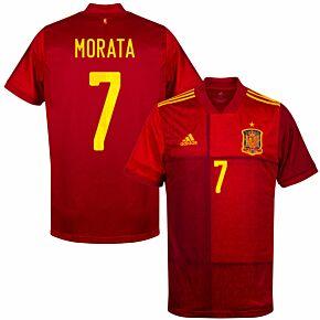 20-21 Spain Home Shirt + Morata 7