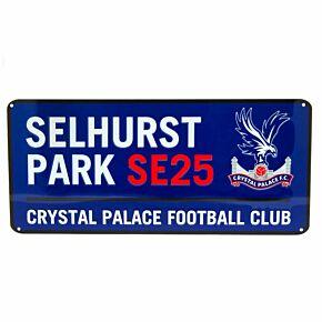 Crystal Palace Colour Street Sign (40cm x 18cm)