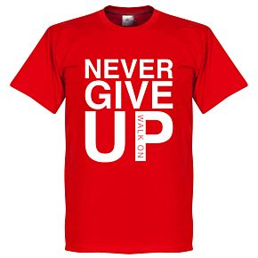Never Give Up Liverpool Tee - Red