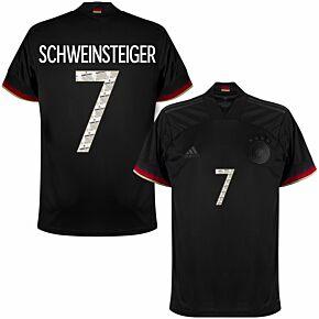 2021 Germany Away Shirt + Schweinsteiger 7 (Danke Basti Printing)