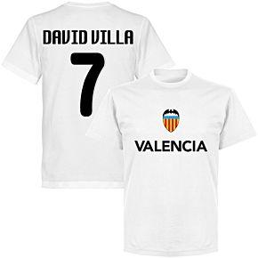 Valencia David Villa 7 Team T-shirt - White