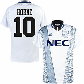 1995 Everton Away Retro Shirt - Umbro + Horne 10 (Retro Flock Printing)