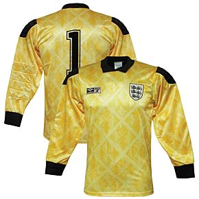 Umbro England 1990-1991 Home Goalkeeper Shirt L/S - Used Condition (Great) - Size S