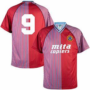1988 Aston Villa Home Retro Shirt + No.9 - Thompson (Retro Flock Printing)
