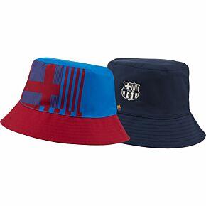 21-22 Barcelona Reversible Bucket Hat - Red/Blue