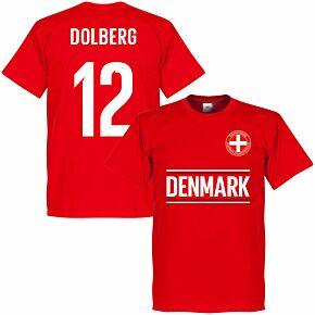 Denmark Dolberg 12 Team T-shirt - Red