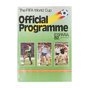 1982 World Cup Finals in Spain Official Souvenir Program - French Edition