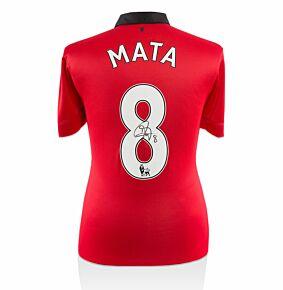 Juan Mata Signed Man Utd 13-14 Home Shirt (Back Signed)