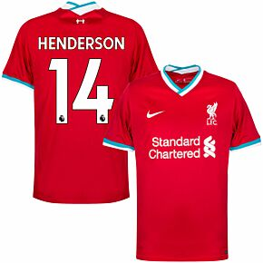 20-21 Liverpool Home Shirt + Henderson 14