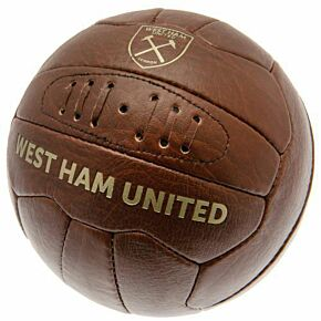 West Ham Faux Leather Football (Size 5)