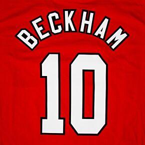 Beckham 10 - 96-97 Home Retro Flock Printing (2-layer flock)