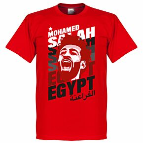Salah Egypt Portrait Tee - Red