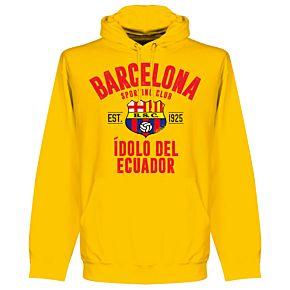 Barcelona Sport Club Established Hoodie - Yellow