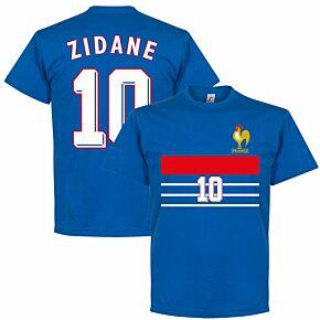 France 1998 Zidane 10 Retro Tee - Royal