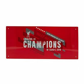 Liverpool Champions of Europe Metal Street Sign - (40cm x 18cm Approx)