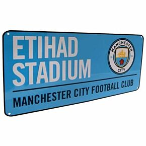 Manchester City Color Street Sign 16in x 7in