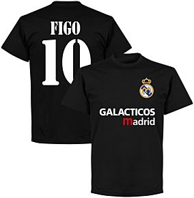 Galácticos Madrid Figo 10 Team T-shirt - Black