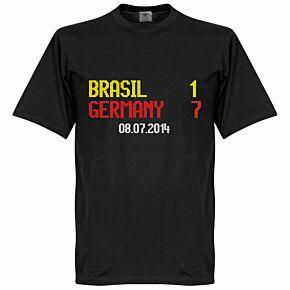 Brasil 1 : Germany 7 Scoreboard Tee - Black