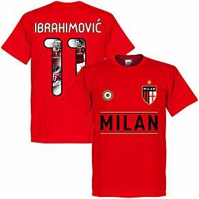 Milan Team Ibrahimović 11 Gallery T-shirt - Red