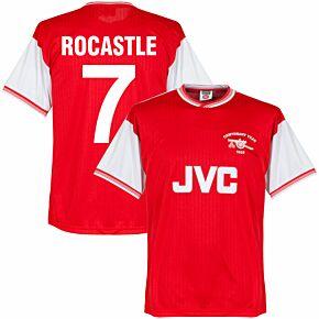 1985 Arsenal Home Centenary Retro Shirt + Rocastle 7