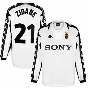 Kappa Juventus 1999-2000 Away Shirt L/S NEW Condition - Zidane 21 Match Issue - Size XL *READY TO PUBLISH*