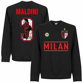 AC Milan Maldini 3 Gallery  Team Sweatshirt - Black