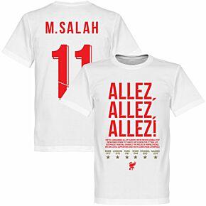 Liverpool Allez Allez Allez M. Salah 11 Tee - White