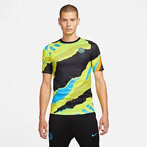 21-22 Inter Milan Champions League Pre-Match Shirt - Black
