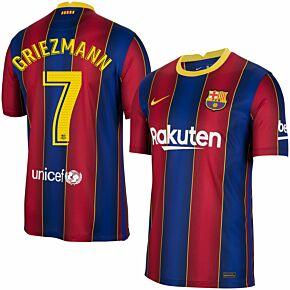 20-21 Barcelona Home Shirt + Griezmann 7 (Match Pro)