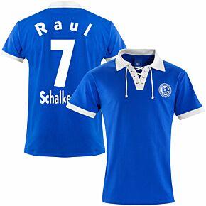 FC Schalke 04 1950's Retro Shirt + Raul 7 (Retro Flock Pinting)