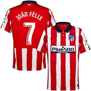 20-21 Atletico Madrid Home Shirt + João Félix 7
