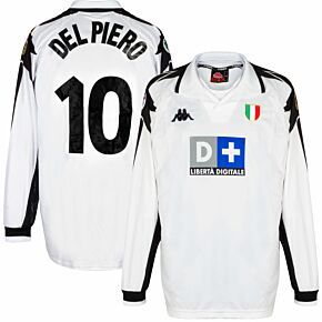 Kappa Juventus 1998-1999 Away Shirt L/S New Condition (Excellent) - Del Piero 10 Match Issue - Size XL