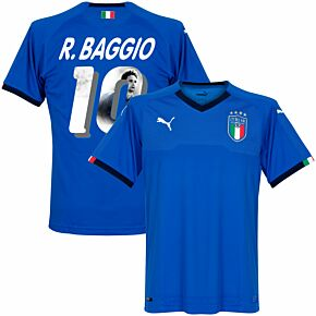 Italy Home R. Baggio Jersey 2018 / 2019 (Gallery Style Printing)