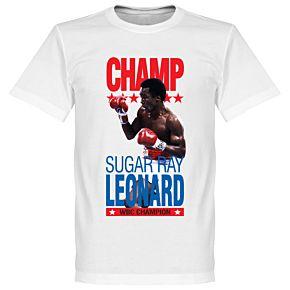 Sugar Ray Leonard Boxing Legend Tee - White
