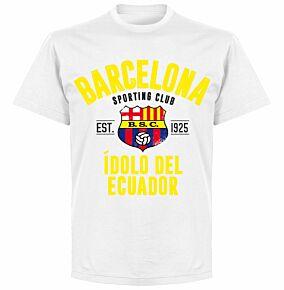 Barcelona Sporting Club Established T-shirt - White