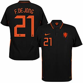 20-21 Holland Vapor Match Away Shirt + De Jong 21 (Official Printing)