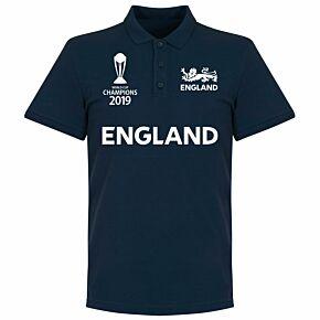 England Cricket World Cup  Winners Polo Shirt - Navy