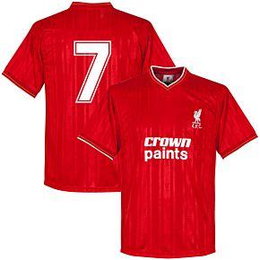 1986 Liverpool Home Retro Shirt + No. 7 (Dalglish)